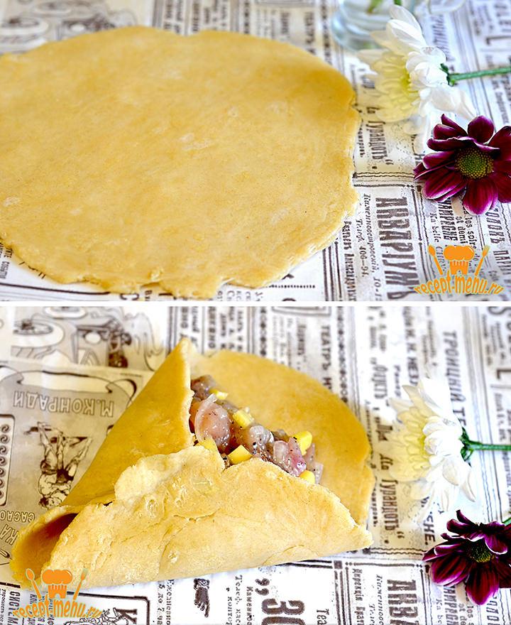 Формируем треугольный пирожок