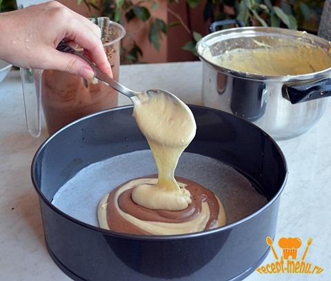 Как готовить полосатый пирог