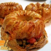 закусочные кексы с колбасой