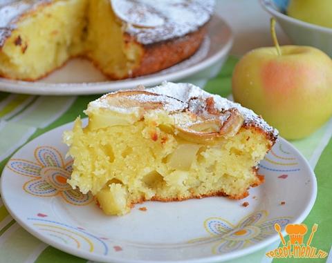 манник с яблоками на кефире рецепт с фото пошагово
