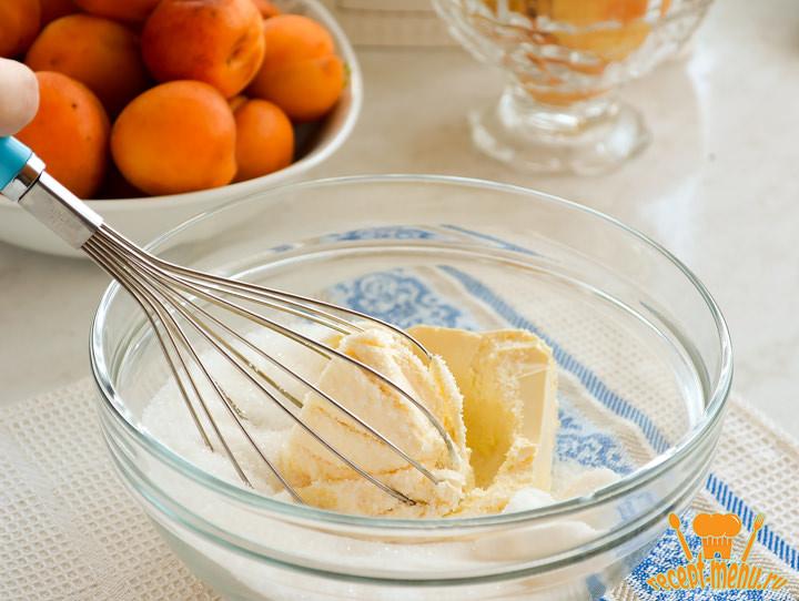 Пирог со свежими абрикосами в духовке, очень простой рецепт