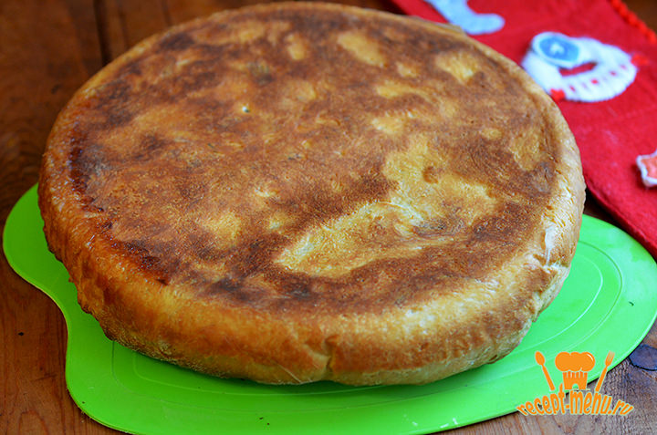 переворачиваем пирог
