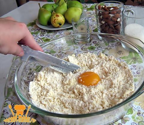 Песочное тесто для пирога с грушами