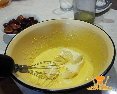 пирог со сливами быстрый