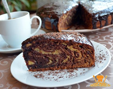 Пирог зебра рецепт