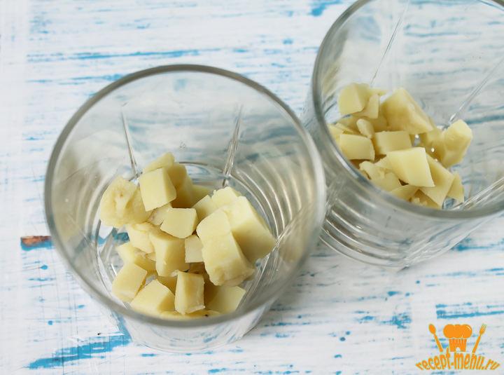 Порезать отварной картофель