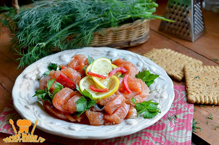 Рецепт как солить красную рыбу
