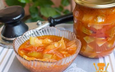 салат анкл бенс из кабачков на зиму
