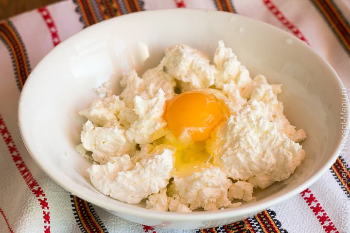 Творог с яйцом для начинки