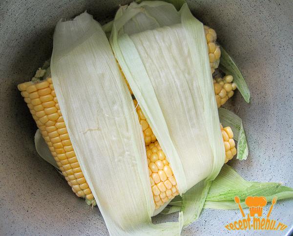 уложить кукурузу