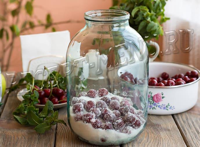 Компот из вишни на зиму на 3 литра: рецепт без стерилизации