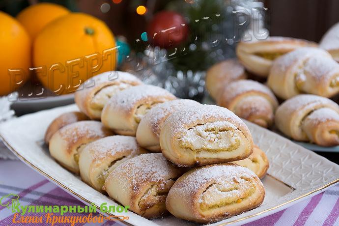 Мягкое печенье с апельсиновой начинкой