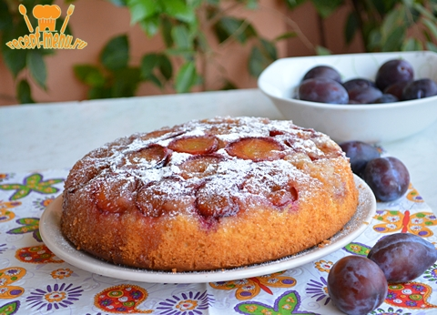 пирог со сливами перевертыш рецепт с фото