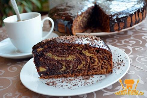 Пирог с какао зебра рецепт