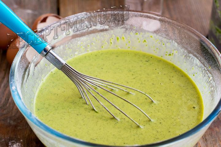 Тесто для блинов из шпината